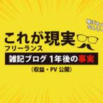 【兼業】フリーランスの雑記ブログ1年後の現実(収益・PV公開)