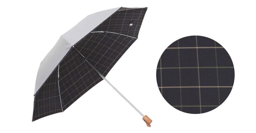 リーベン 先染ひんやり折りたたみ日傘