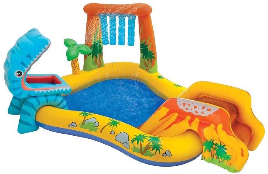 子ども用滑り台付き家庭用ビニールプールおすすめ恐竜