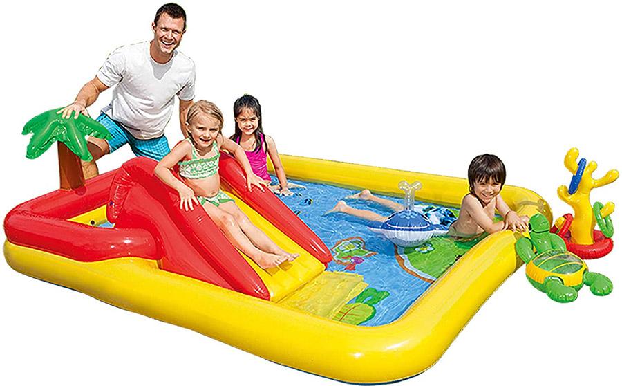 大型・子ども用滑り台付き家庭用ビニールプールおすすめ03