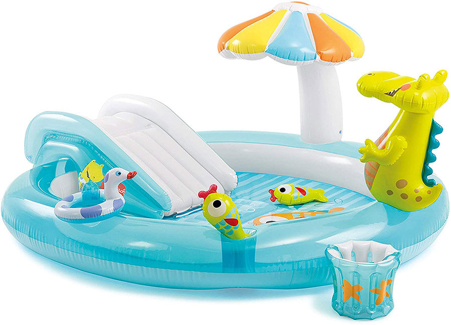 子ども用滑り台付き家庭用ビニールプールおすすめ02