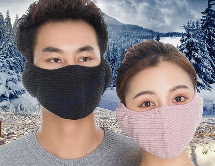 冬のアウトドアに!耳まで隠せる防寒マスク