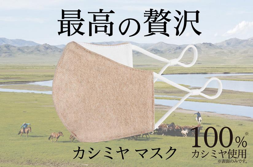 「HEAT MASK カシミヤ 」コロナウイルス対策 ヒートマスク 3層タイプ【HM007】