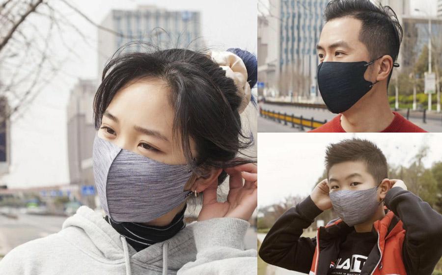 ヘザー柄ファッションマスク【秋冬用マスク】