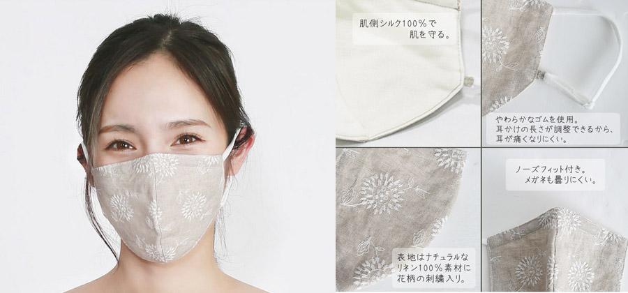 2020年グッドデザイン賞受賞!布製高機能マスク(coco-kara)2