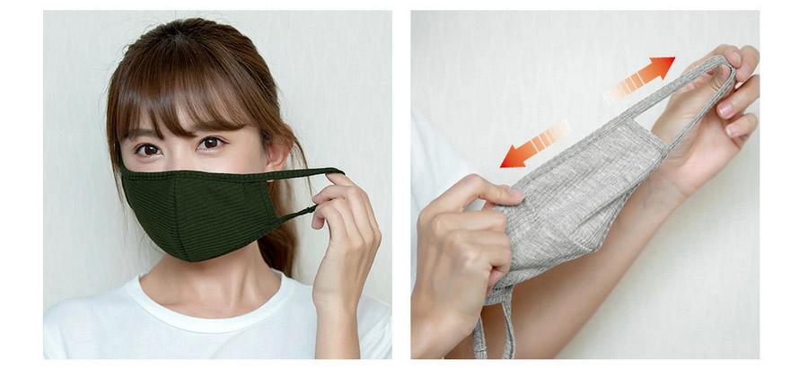 カラーバリエーションが豊富!洗えるリブマスク 2