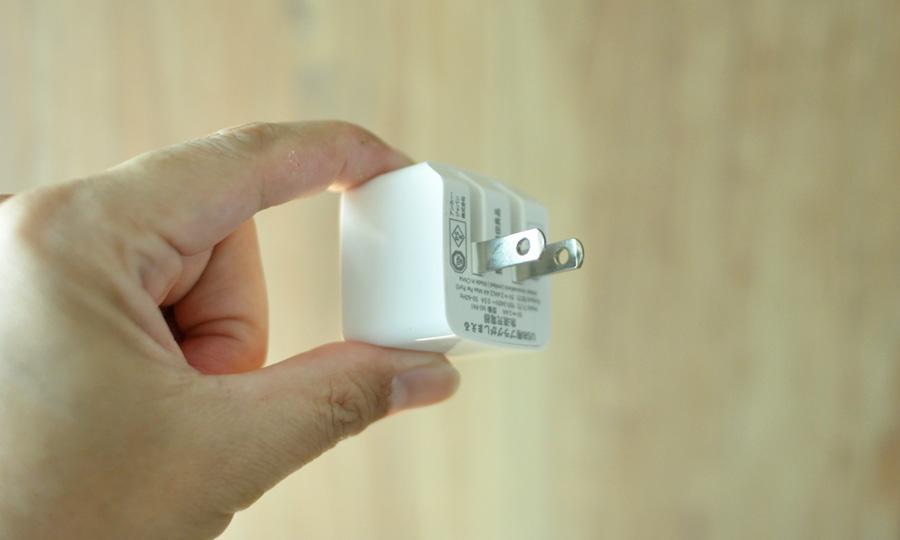 無印良品プラグがしまえる急速充電器(MJ-PA1)のレビュー3