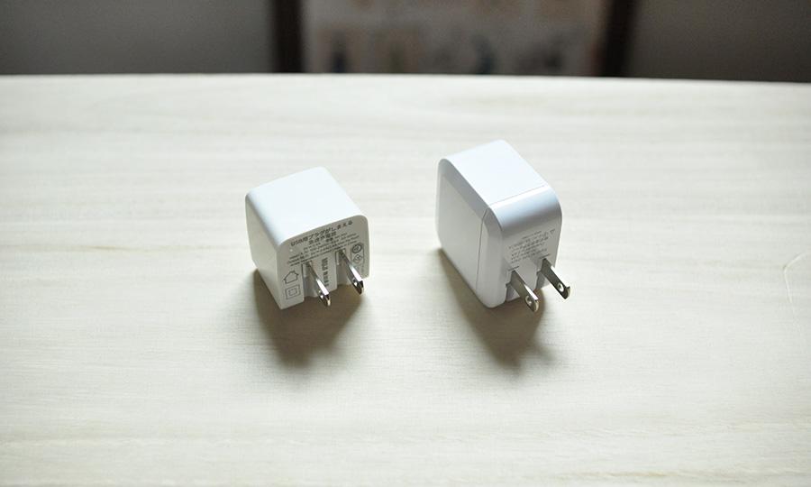 無印良品とダイソーの充電器比較3