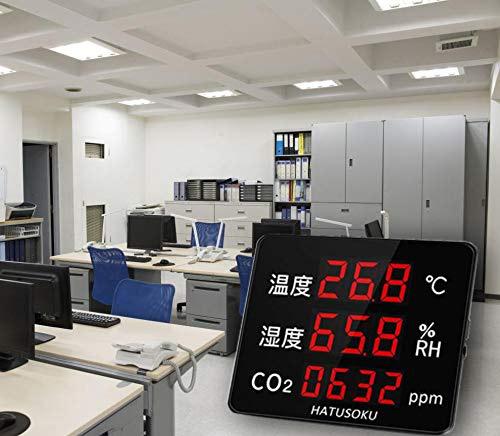 大画面モニター!人数の多いオフィスに最適なCO2モニター