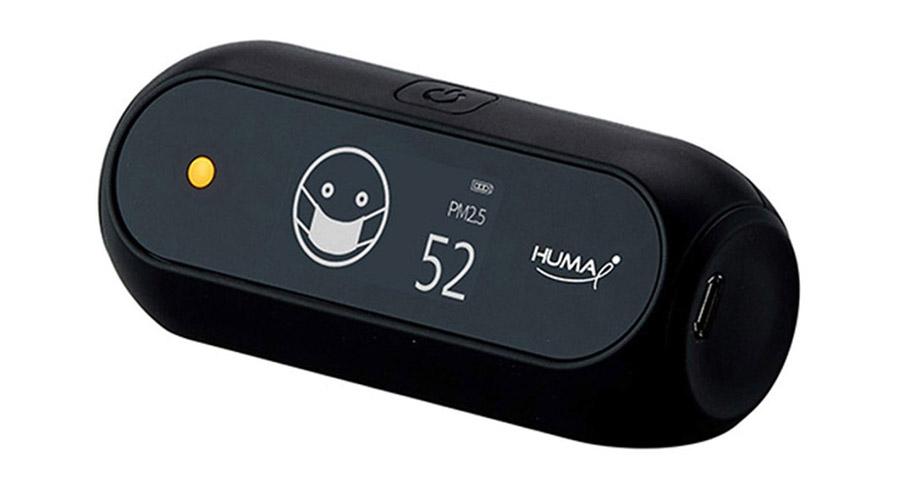 アイコンとLEDでわかりやすく知らせてくれるCO2センサー【Huma-i】