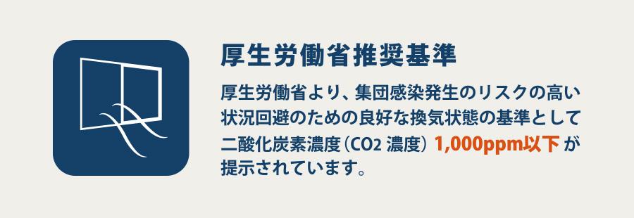 厚生労働省も「CO2の濃度」を測ることの重要性を提示