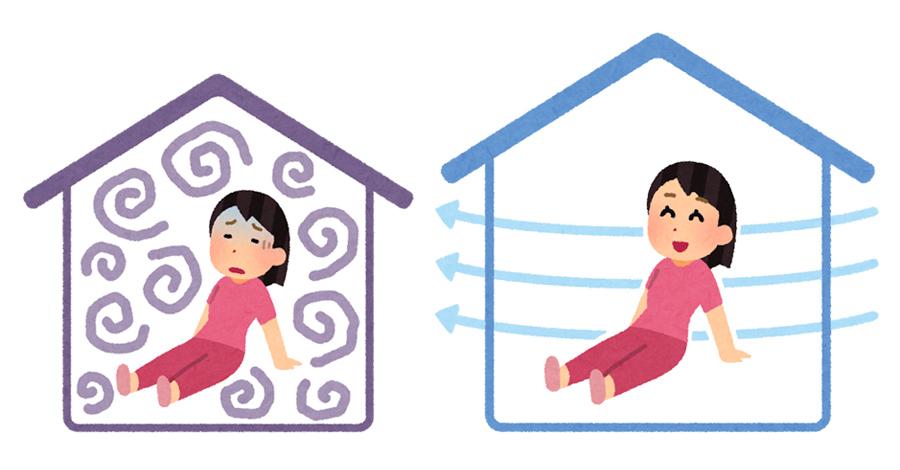 古い家のカビの臭い対策 【カビの発生を防止する方法】換気で湿気を逃がす
