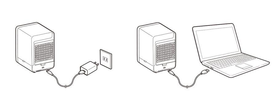無印良品冷風扇MJ-WCF1の使い方