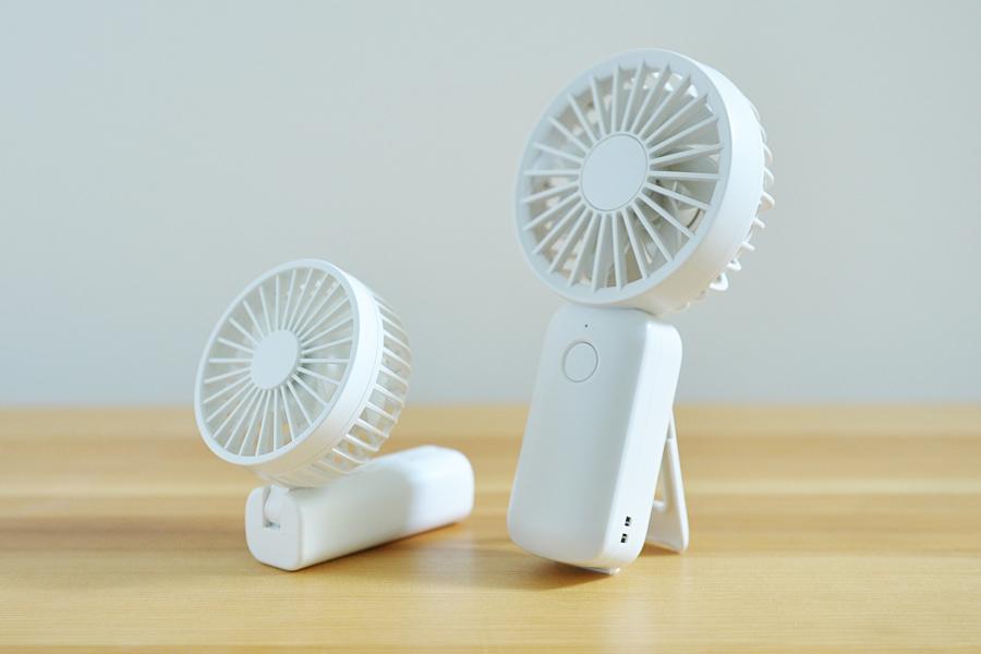 無印良品のハンディ扇風機比較外観・サイズの比較