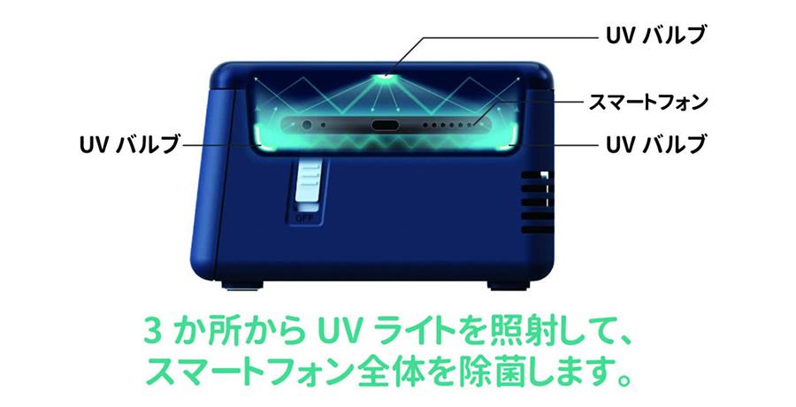 ADESSO(アデッソ)UV除菌フォッシュPhoshUV-C(紫外線)でスマホを安全に除菌
