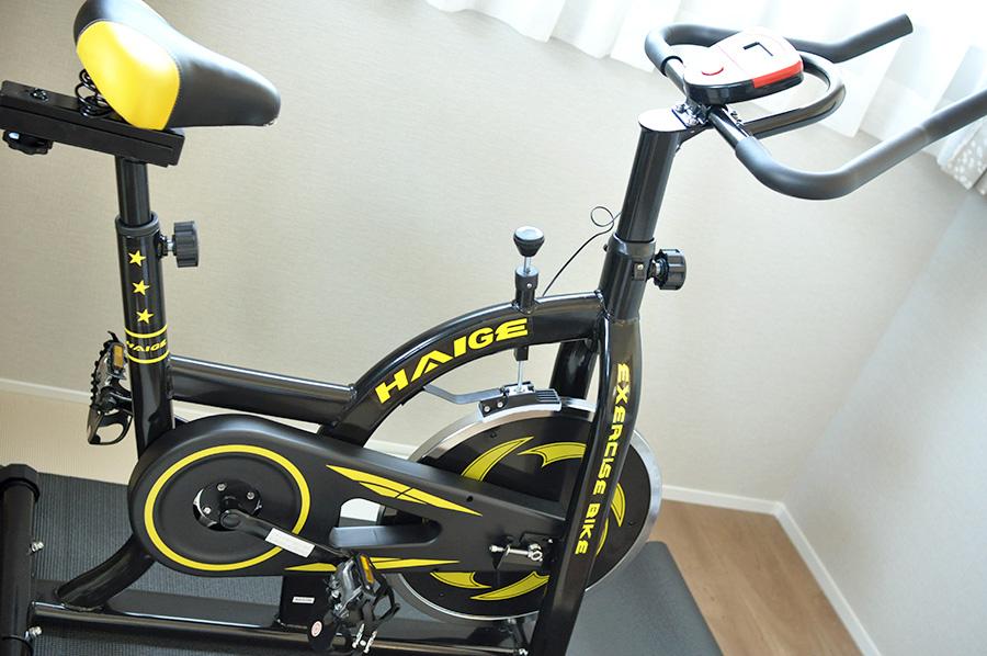 我が家で購入したハイガーのスピンバイクHG-YX-5006の写真