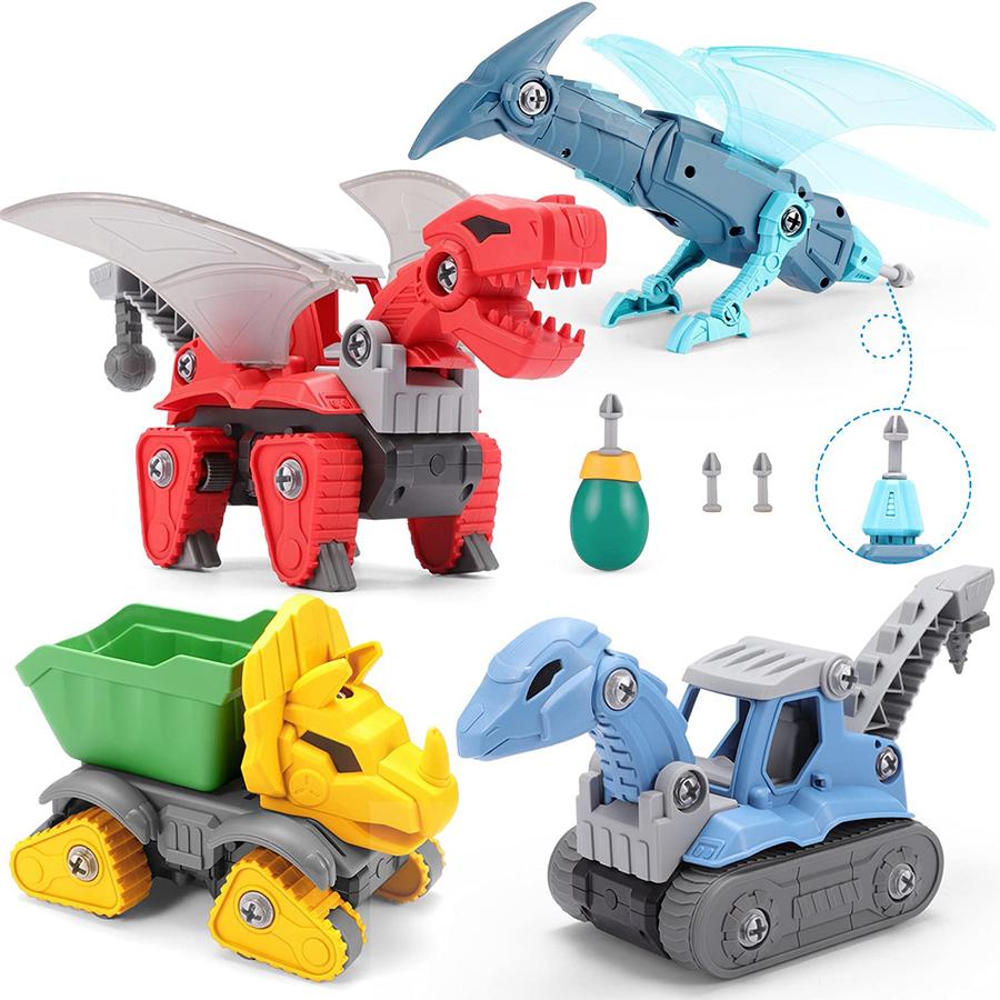 動く恐竜のおもちゃ-SUMXTECH 恐竜の電動ドリルおもちゃセット【大工さんごっこ】